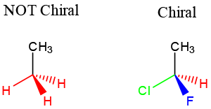 Carbon center with 4 unique substituents