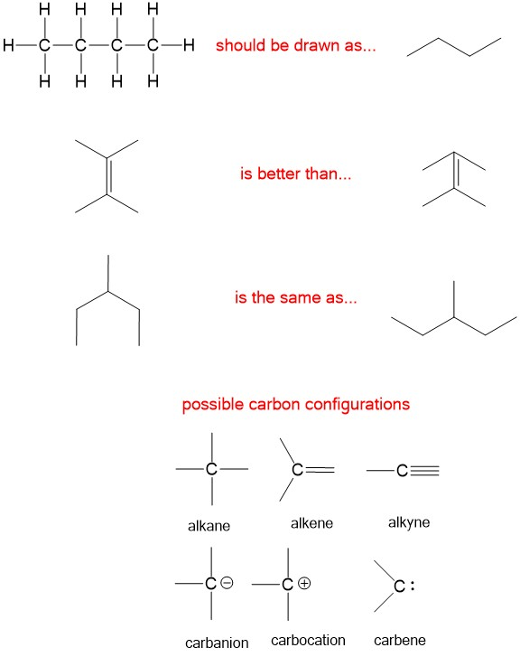 Line Drawing Rules Chemistry : Drawing organic molecules chemistry help